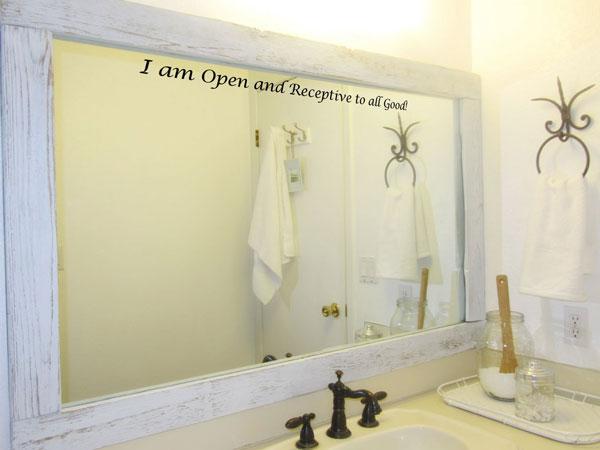 affirmation on mirror