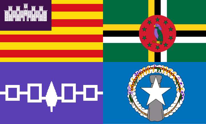 Flags With Purple