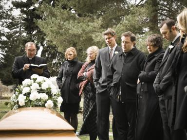 black at a funeral